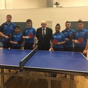 Table Tennis programme inside schools