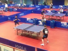 Table Tennis Tournament knock Up