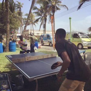 Table tennis break