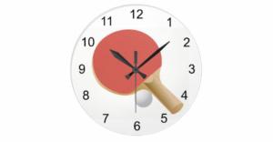 Table Tennis Clock