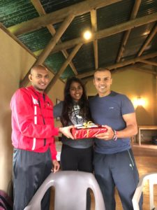 Table Tennis gift from players to coach